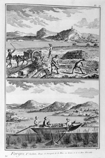 Forging Mills, Transport to the Mine, 1751-1777--Giclee Print