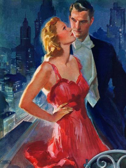 """Formal Couple on Balcony,""July 30, 1938-John LaGatta-Giclee Print"