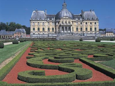 Formal Garden in Front of a Castle--Photographic Print