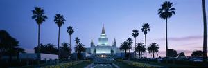 Formal Garden in Front of a Temple, Oakland Temple, Oakland, Alameda County, California, USA