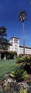 Formal Garden in Front of an Educational Building, Santa Clara University, Santa Clara, Californ...