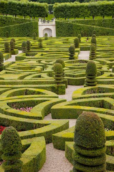 Formal Gardens of Chateau Villandry, Loire Valley, France-Brian Jannsen-Photographic Print
