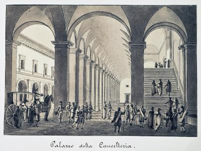 Former Palace of Chancellery in Rome, Italy, 18th Century--Giclee Print