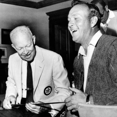 Former President Dwight Eisenhower Enjoys a Laugh with Famed Golfer, Arnold Palmer, Aug 12, 1965--Photo