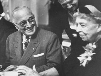 Former President Harry S. Truman Talking with Mrs. Franklin D. Roosevelt
