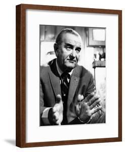Former President Lyndon Johnson During an Interview Walter Cronkite