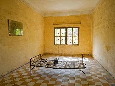 Former Prison Cell for Khmer Rouge Victims Captured and Tortured at Security Prison S-21-Rachel Lewis-Photographic Print