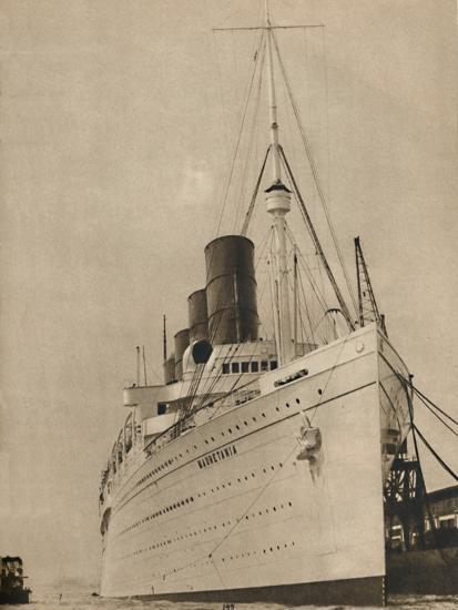 'Former Queen of the Ocean, R,M.S. Mauretania of the Cunard White Star Line', 1936-Unknown-Photographic Print