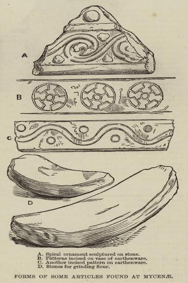 Forms of Some Articles Found at Mycenae--Giclee Print