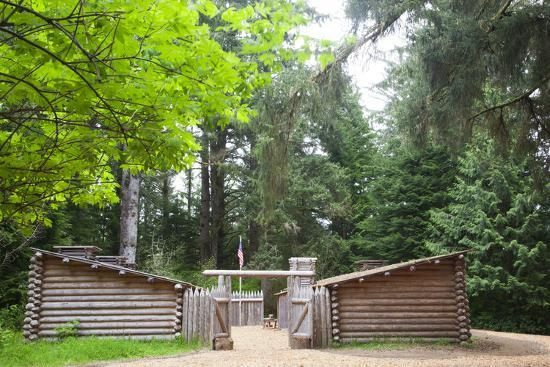 Fort Clatsop, Lewis and Clark National Historic Park, Oregon, USA-Jamie & Judy Wild-Photographic Print