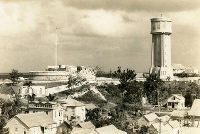 Fort Fincastle and Water Tower, Nassau, Bahamas, C.1955--Photographic Print