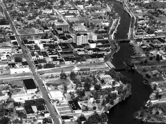 Fort Lauderdale Aerial View, 1932--Photographic Print