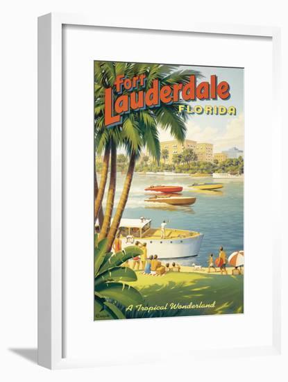 Fort Lauderdale, Florida-Kerne Erickson-Framed Giclee Print