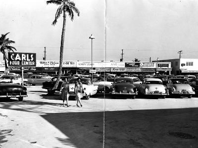 Fort Lauderdale Strip Mall, 1954--Photographic Print