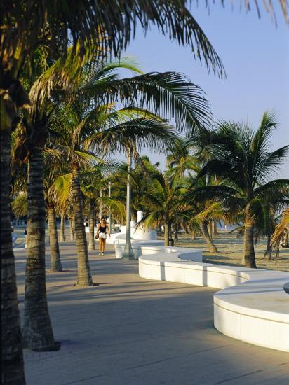 Fort Lauderdale, Wave Wall Promenade, Florida, USA-Fraser Hall-Photographic Print