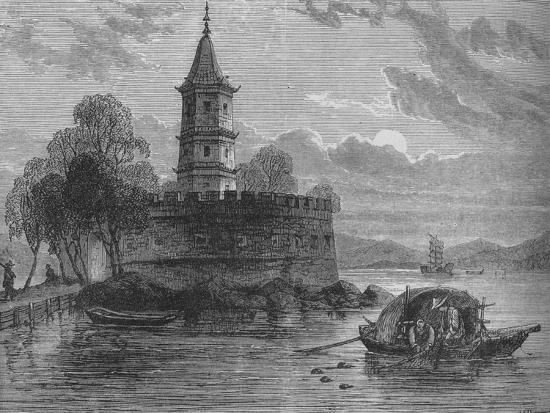 'Fort on the Peiho River', c1880-Unknown-Giclee Print