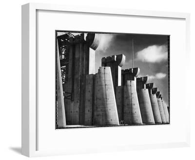 Fort Peck Dam as Featured on the Very First Cover of Life Magazine-Margaret Bourke-White-Framed Premium Photographic Print