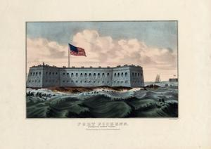 Fort Pickens: Pensacola Harbor, Florida, Pub. by Currier and Ives, C.1865