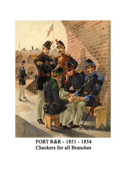 Fort R&R - 1851 - 1854 - Checkers for All Branches-Henry Alexander Ogden-Art Print