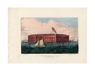 Fort Sumter: Charleston Harbor, S.C., Pub. by Currier and Ives, C.1861-Charles Parsons-Giclee Print