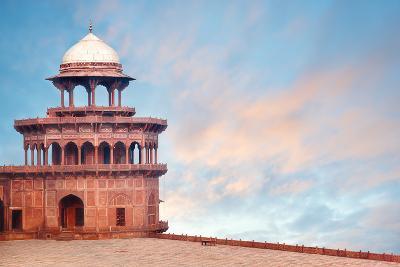 Fort Tower, Detail of Taj Mahal Architectural Complex in Agra, India-Serg Zastavkin-Photographic Print