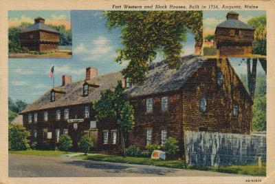 Fort Western and Block Houses, Augusta, Maine, 1920S--Giclee Print