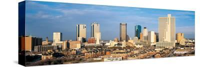Fort Worth Skyline II--Stretched Canvas Print
