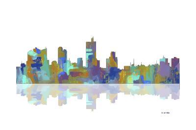 Fort Worth Texas Skyline 1-Marlene Watson-Giclee Print