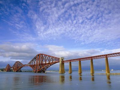 Forth Railway Bridge Over the Firth of Forth, Queensferry Near Edinburgh, Lothian, Scotland, UK-Neale Clarke-Photographic Print