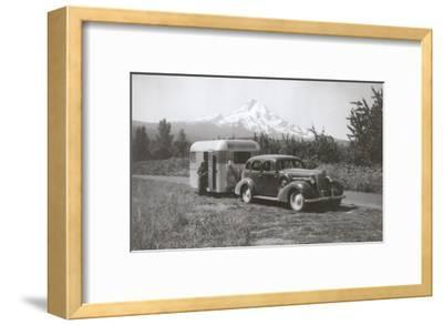 Forties Travel Trailer in Mountains