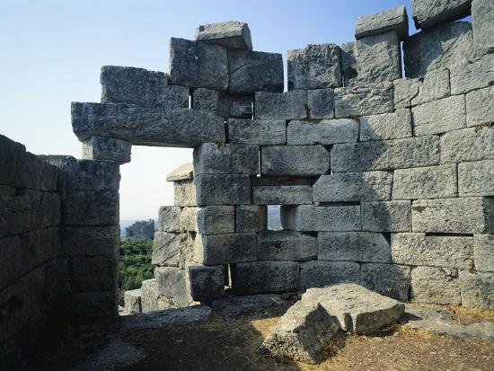 Fortifications in Messene, Greece. Greek Civilization BC--Giclee Print