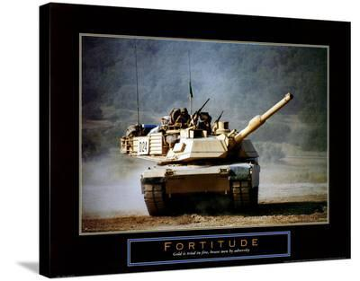 Fortitude: Tank on the Move-Jerry Angelica-Stretched Canvas Print