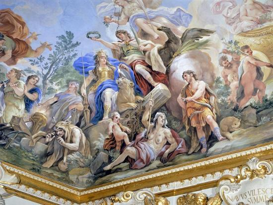 Fortress, Detail of Cycle of Frescoes in Hall of Mirrors of Cycle by Luca Giordano--Giclee Print