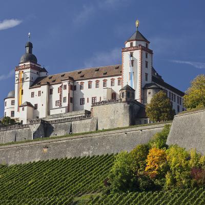 Fortress Marienberg, WŸrzburg (City), Bavaria, Germany-Rainer Mirau-Photographic Print