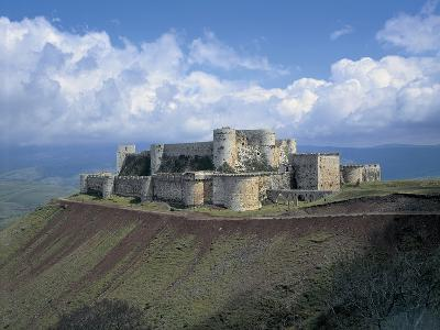 Fortress on a Hilltop, Krak Des Chevaliers, Syria--Giclee Print