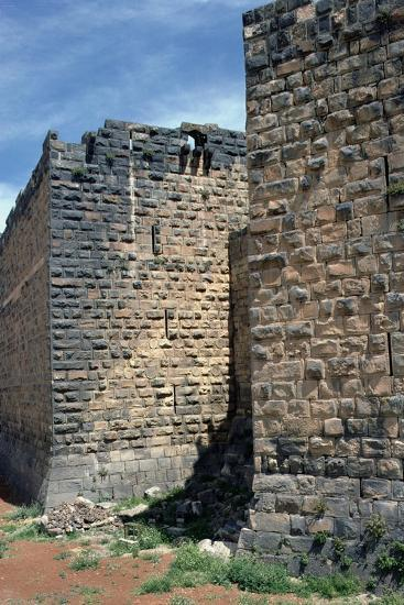 Fortress Wall with Sections of Roman Column, C.12th-13th Century--Photographic Print