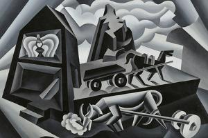 Dawn and Sunset on the Alps (Ploughing) by Fortunato Depero