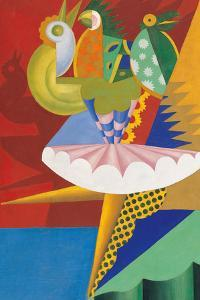 Rotation of Dancer and Parrots by Fortunato Depero