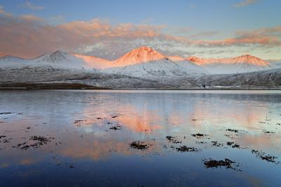 United Kingdom, Uk, Scotland, Highlands, Black Cuillin at Sunrise