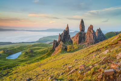 United Kingdom, Uk, Scotland, Inner Hebrides, Isle of Skye, Old Man of Storr