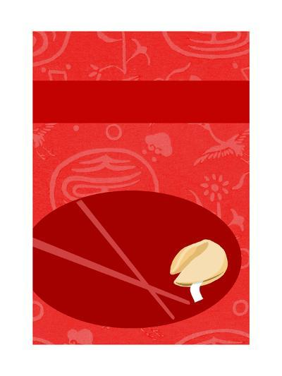 Fortune Cookie with Chopsticks--Art Print
