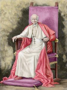 Pope Leo XIII (1810-1903) by Fortune Louis Meaulle