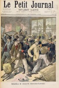 Rebellion of Conscripts from Alsace-Lorraine, from 'Le Petit Journal, 1st November 1896 by Fortune Louis Meaulle