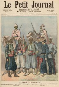 The Colonial Army, from Le Petit Journal, 7th March 1891 by Fortune Louis Meaulle