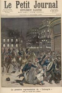 The First Performance of Lohengrin, from Le Petit Journal, 3rd October 1891 by Fortune Louis Meaulle