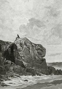 The Rock of the Exiled in Jersey, 19th Century by Fortune Louis Meaulle