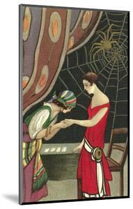 Fortune Teller Reading Flapper's Palm