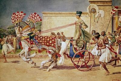 Nefertiti in Her Royal Chariot by Fortunino Matania