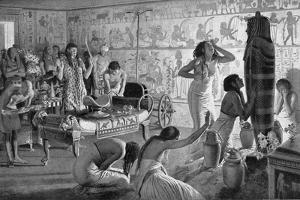 Scene of Mourning at the Funerary Temple of Tutankhamun, Egypt, 1325 BC (1933-193) by Fortunino Matania