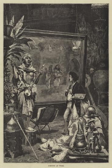 Fortuny at Work--Giclee Print